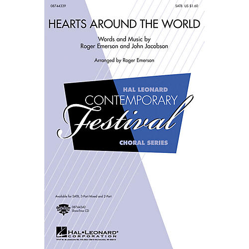 Hal Leonard Hearts Around the World 2-Part Composed by Roger Emerson, John Jacobson-thumbnail