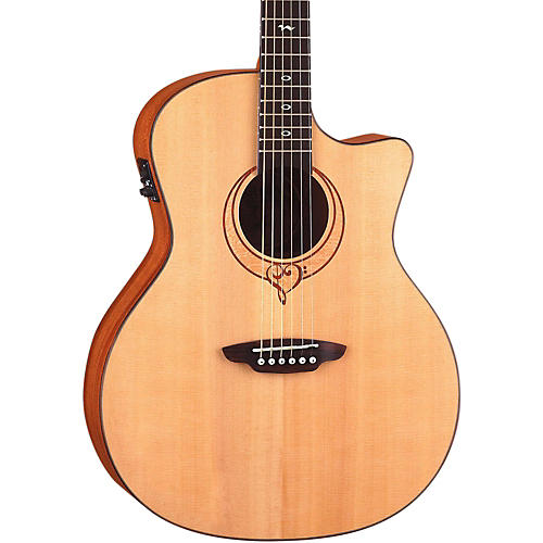 Luna Guitars Heartsong Grand Concert Acoustic Electric Guitar With USB Natural