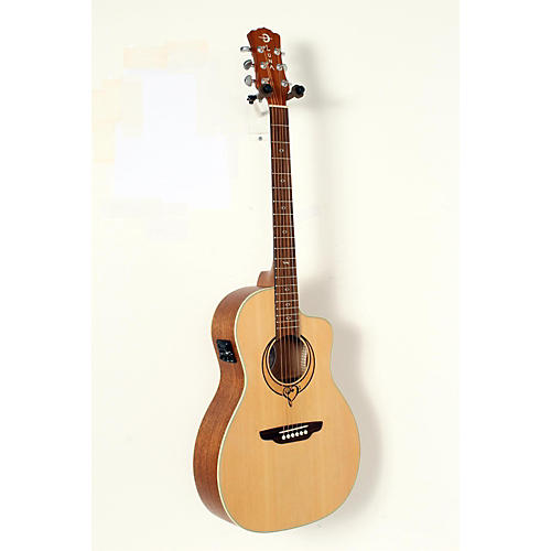 open box luna guitars heartsong parlor acoustic electric guitar with usb natural 190839052889. Black Bedroom Furniture Sets. Home Design Ideas
