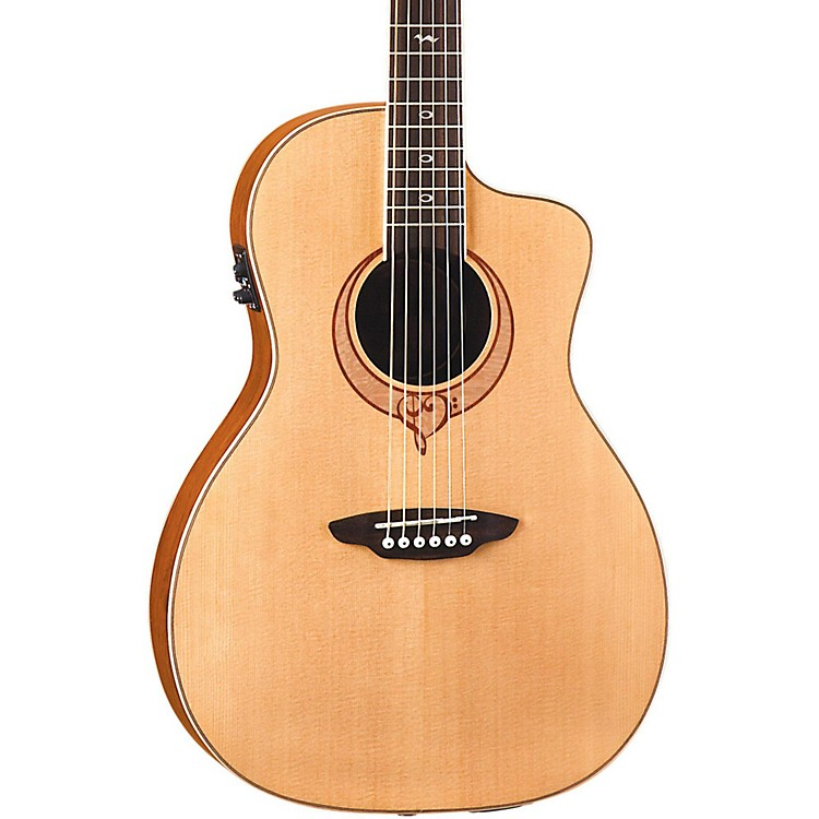 Luna GuitarsHeartsong Parlor Acoustic Electric Guitar With USBNatural