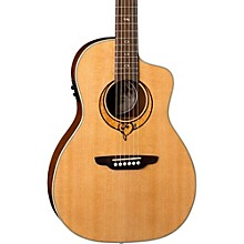 Open Box Luna Guitars Heartsong Parlor with USB Acoustic-Electric Guitar