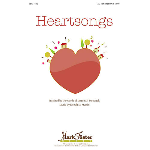 Shawnee Press Heartsongs 2-Part (optional 3-Part) composed by Joseph Martin-thumbnail