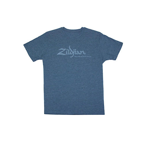 Zildjian Heathered Blue T-Shirt Heathered Blue Large