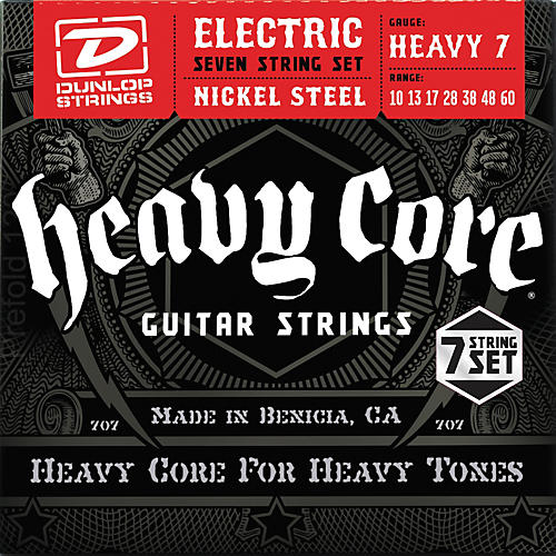 Dunlop Heavy Core 7-String Electric Guitar Strings - Heavy Gauge-thumbnail