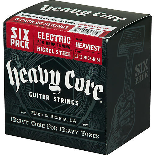 Dunlop Heavy Core Electric Guitar Strings Heaviest 6-Pack