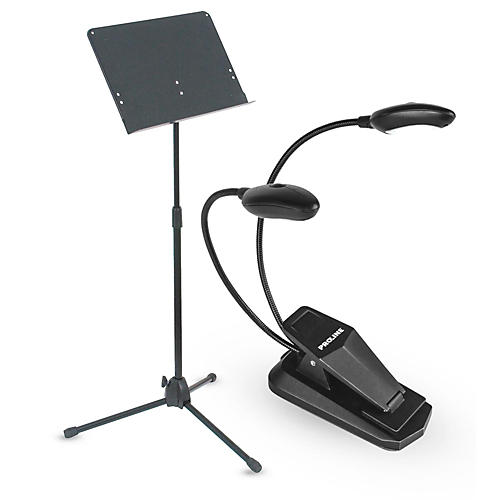Musician's Gear Heavy Duty Music Stand & LED Light Combo