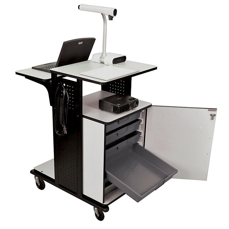 H. WilsonHeavy-Duty Presentation Station with Storage TraysBlack and GrayMedium