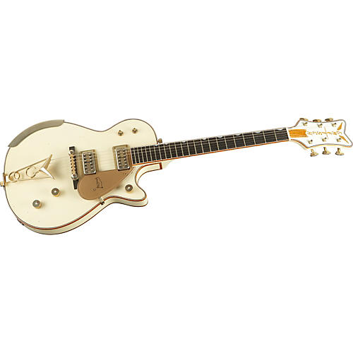 Gretsch Guitars Heavy Relic White Penguin Electric Guitar-thumbnail