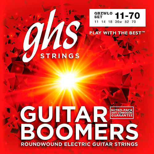 GHS Heavyweight Boomers Custom Lo-Tune Electric Guitar Strings Heavy