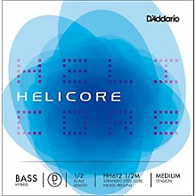 D'Addario Helicore Hybrid Series Double Bass D String 1/2 Size