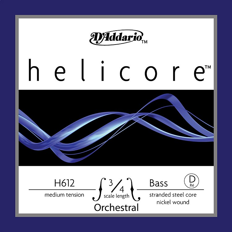D'Addario Helicore Orchestral 3/4 Size Double Bass Strings 3/4 Size D String