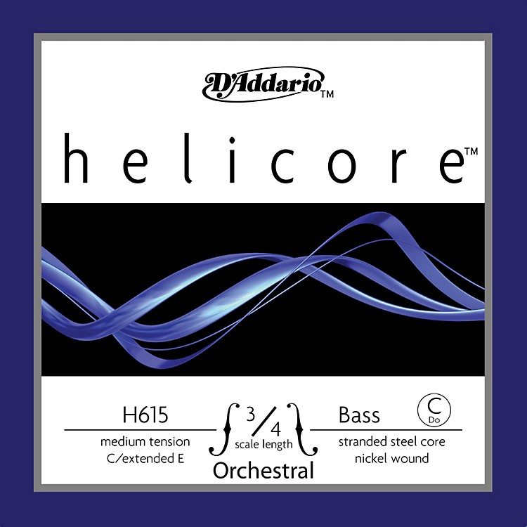 D'AddarioHelicore Orchestral 3/4 Size Double Bass Strings3/4 SizeExtended E String