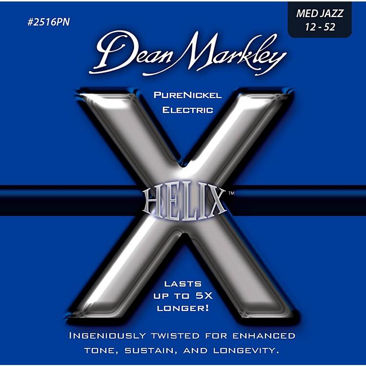 Dean MarkleyHelix Pure Nickel Medium Jazz Electric Guitar Strings (12-52)