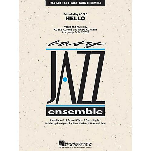 Hal Leonard Hello Jazz Band Level 2 by Adele Arranged by Rick Stitzel-thumbnail