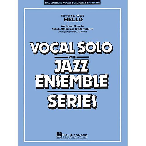 Hal Leonard Hello (Key: Fmi) Jazz Band Level 3-4 Composed by Greg Kurstin-thumbnail