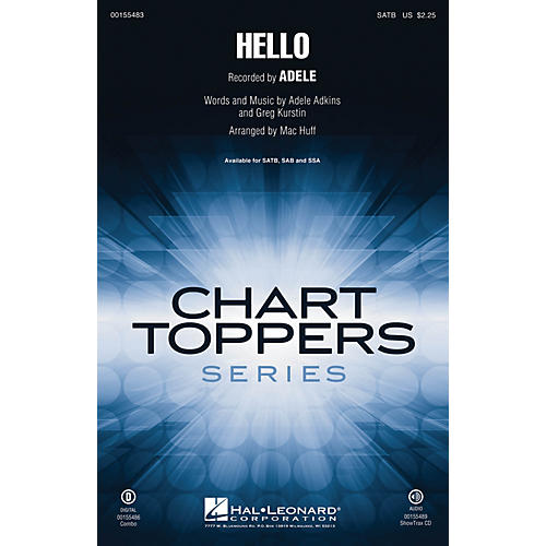 Hal Leonard Hello SATB by Adele arranged by Mac Huff