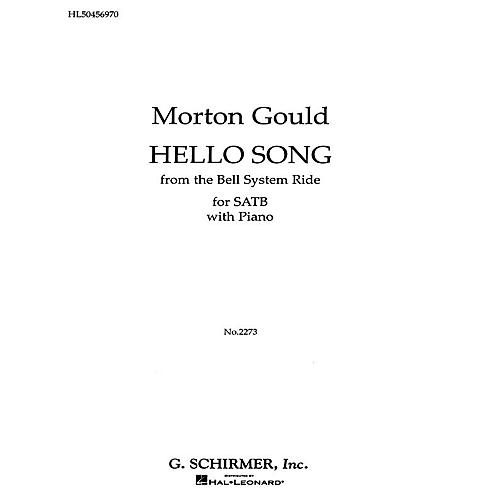 G. Schirmer Hello Song Pno From The Bell System Ride SATB composed by M Gould-thumbnail
