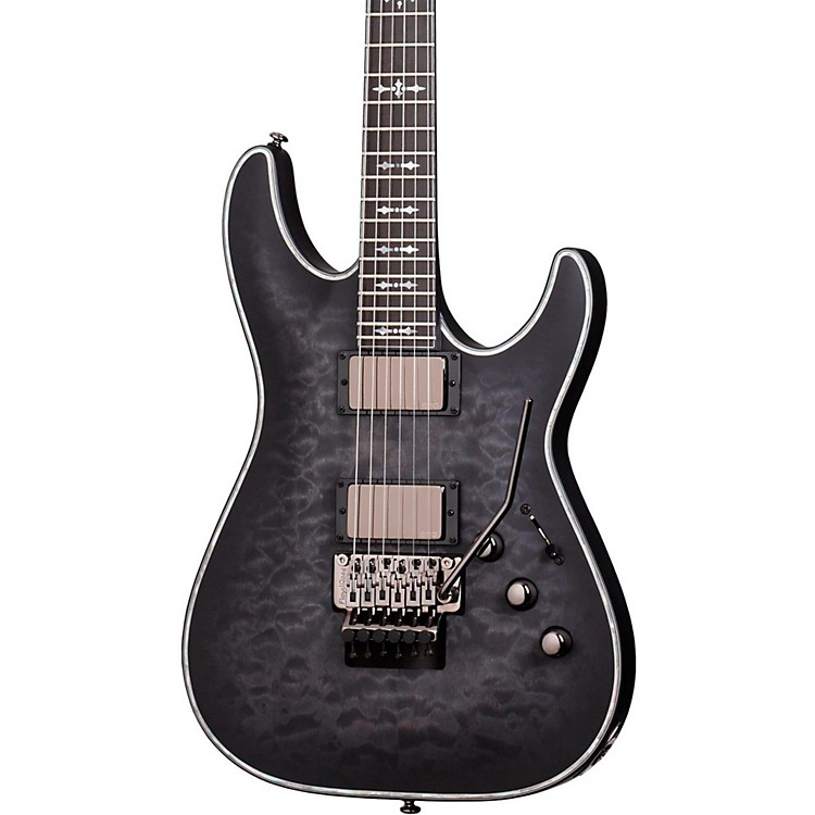 Schecter Guitar Research Hellraiser C-1 FR Extreme Electric Guitar See Thru Black Satin Maple Fingerboard