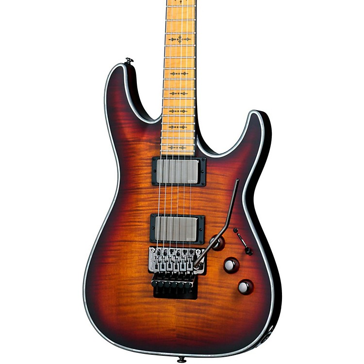 Schecter Guitar Research Hellraiser C-1 FR Extreme Electric Guitar Three Tone Sunburst Satin Maple Fingerboard