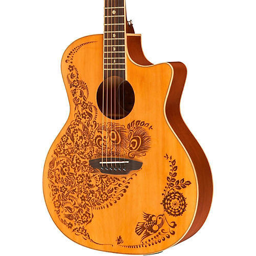 Luna Guitars Henna Oasis Cedar Series II Acoustic-Electric Guitar