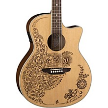 Luna Guitars Henna Oasis Select Spruce Acoustic-Electric Guitar