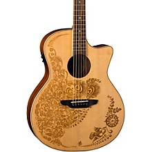 Luna Guitars Henna Oasis Spruce Acoustic Electric Guitar