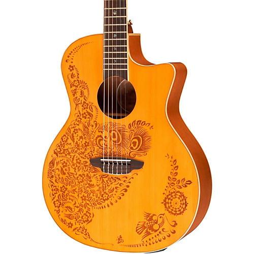 Luna Guitars Henna Oasis Spruce Series II Nylon String Acoustic-Electric Guitar-thumbnail