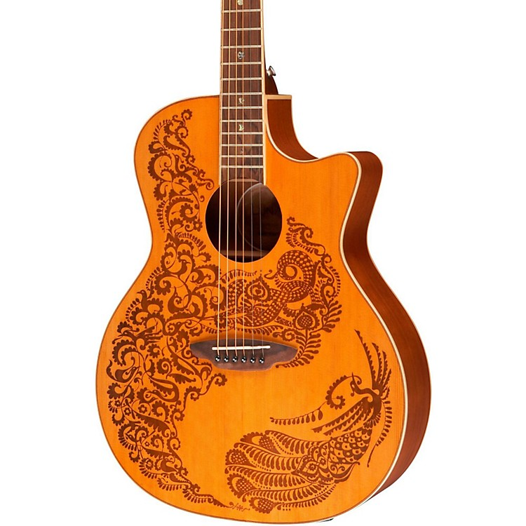 Luna GuitarsHenna Paradise Cedar Series II Acoustic-Electric Guitar