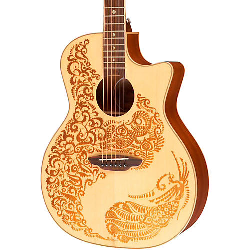 Luna Guitars Henna Paradise Spruce Series II Acoustic-Electric Guitar