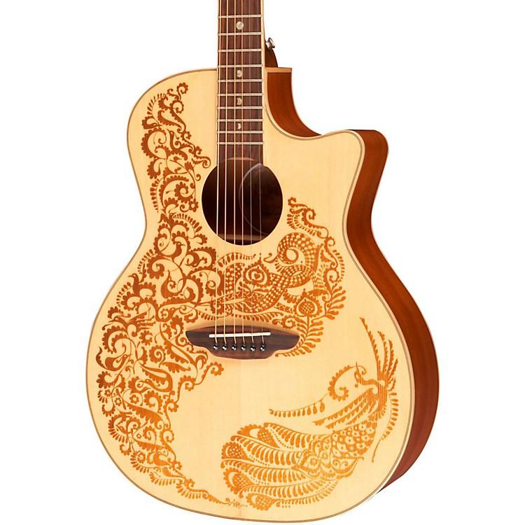 Luna GuitarsHenna Paradise Spruce Series II Acoustic-Electric Guitar