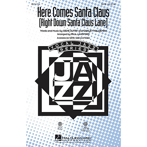 Hal Leonard Here Comes Santa Claus (Right Down Santa Claus Lane) ShowTrax CD Arranged by Paul Langford-thumbnail