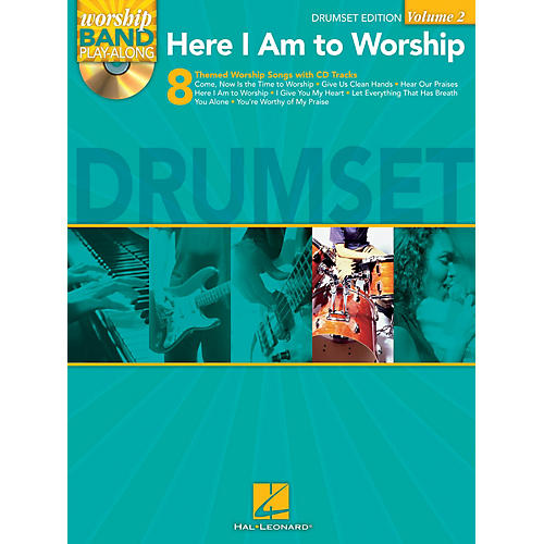 Hal Leonard Here I Am to Worship - Drums Edition Worship Band Play-Along Series Softcover with CD
