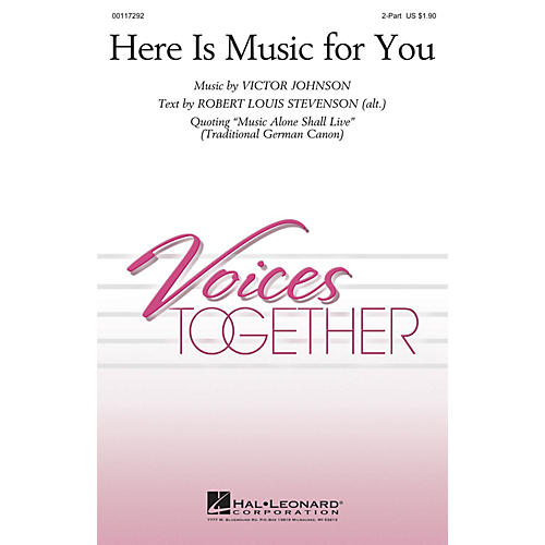 Hal Leonard Here Is Music for You 2-Part composed by Victor Johnson