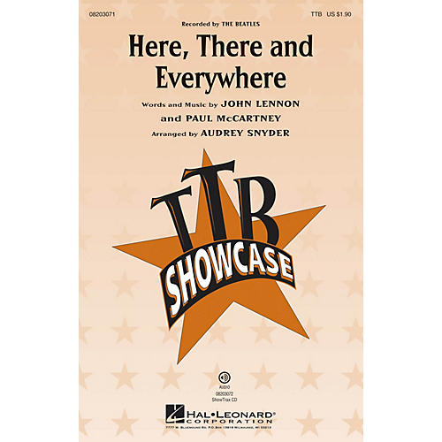 Hal Leonard Here, There and Everywhere TTB by The Beatles arranged by Audrey Snyder