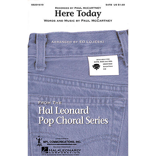 Hal Leonard Here Today ShowTrax CD by Paul McCartney Arranged by Ed Lojeski