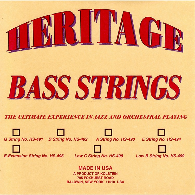 KolsteinHeritage Orchestral / Jazz Bass StringsHS-494 Set
