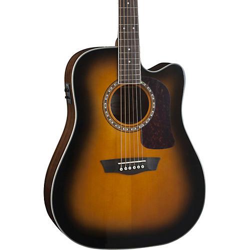 Washburn Heritage Series HD10SCE Acoustic-Electric Cutaway Dreadnought Guitar Gloss Tobacco Sunburst
