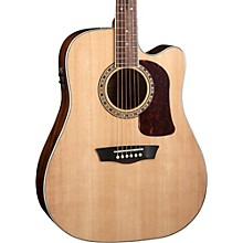Washburn Heritage Series HD10SCE Acoustic-Electric Cutaway Dreadnought Guitar Natural