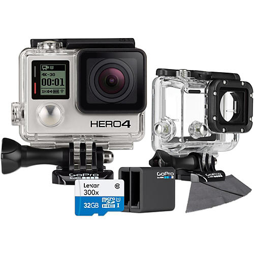 GoPro Hero4 Black - Standard with 32GB SD Card, Dive Housing and Charger Bundle