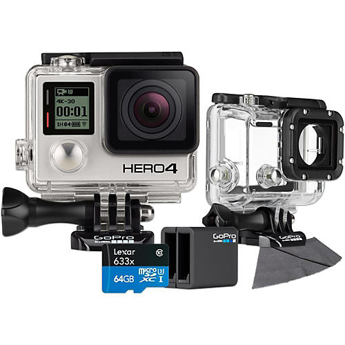 GoPro Hero4 Black - Standard with 64GB SD Card, Dive Housing and Charger Bundle