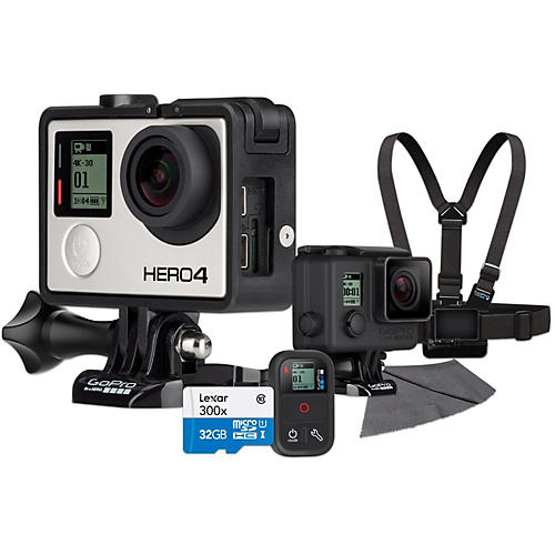 GoPro Hero4 Black Music Edition Drummer's Pack with 32GB SD Card Bundle