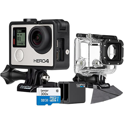 GoPro Hero4 Black Music Edition with 32GB SD Card, Dive Housing and Charger Bundle