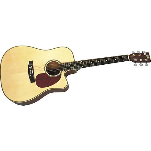 Rogue Herringbone Dreadnought Cutaway Acoustic-Electric Guitar