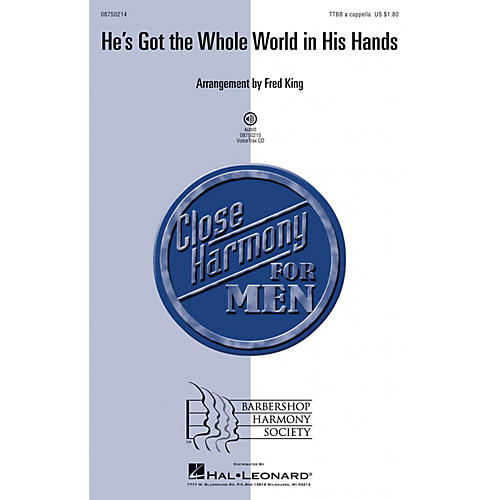 Hal Leonard He's Got the Whole World in His Hands TTBB arranged by Fred King-thumbnail