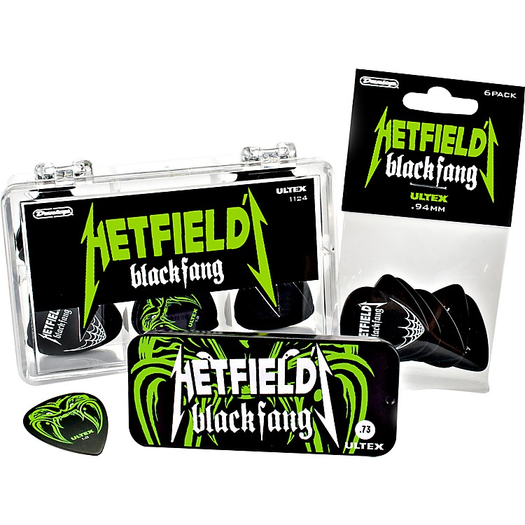 Dunlop Hetfield Black Fang Pick Tin - 6 Pack  1.14mm