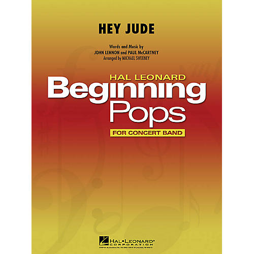 Hal Leonard Hey Jude Concert Band Level 1 by The Beatles Arranged by Michael Sweeney-thumbnail