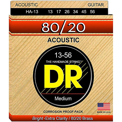 DR Strings Hi-Beam 80/20 Medium Heavy Acoustic Guitar Strings-thumbnail