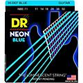DR Strings Hi-Def NEON Blue Coated Medium (11-50) Electric Guitar Strings-thumbnail