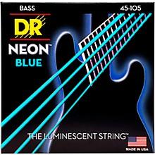 DR Strings Hi-Def NEON Blue Coated Medium 4-String (45-105) Bass Guitar Strings