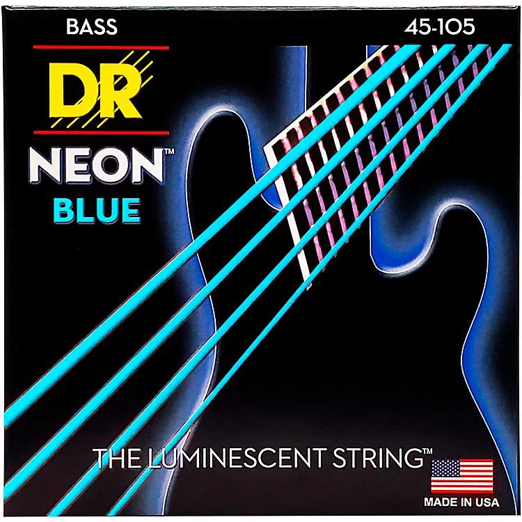 DR StringsHi-Def NEON Blue Coated Medium 4-String (45-105) Bass Guitar Strings